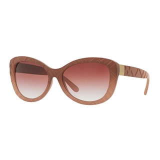 Burberry Women's BE4217 35828H Pink Plastic Butterfly Sunglasses
