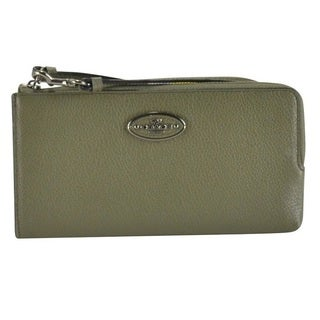 Coach Women's Refined Grain Leather Zip Wallet