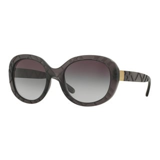 Burberry Women's BE4218 35818G Grey Plastic Round Sunglasses
