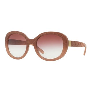 Burberry Women's BE4218 35828H Pink Plastic Round Sunglasses