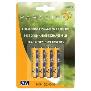 Paradise BA25115 Paradise Ni-Cd AA Rechargeable Batteries 4-count