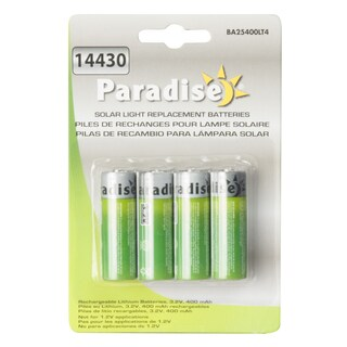 Paradise BA25400LT4 3.2 Volt Solar Battery Life For Outdoor Lights