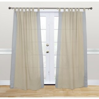 Kosas Home Harvey 108-inch Grey/Beige Cotton and Linen Tab Top Panel Drape