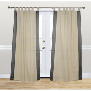Kosas Home Harvey 108-inch Charcoal Cotton and Linen Tab-top Curtain Panel