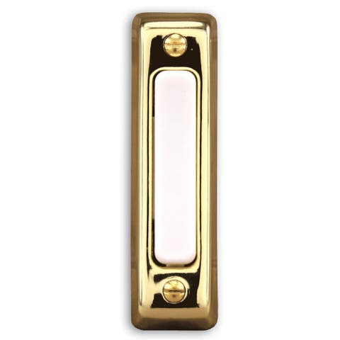 Heath Zenith Polished Brass Wired Pushbutton