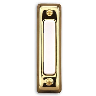 Heathco 711P-B Brass Wired Doorbell