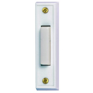 Heathco 715W-1-C White Lighted Narrow Doorbell