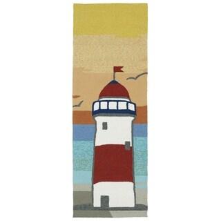 Indoor/Outdoor Beachcomber Lighthouse Multi Rug (2'0 x 6'0)