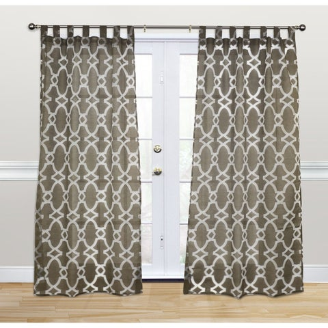 Kosas Home Dorris Chocolate 108-inch Tab-top Curtain Panel - 42 x 108