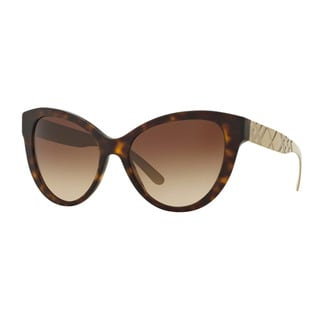 Burberry Women's BE4220 353613 Havana Plastic Butterfly Sunglasses