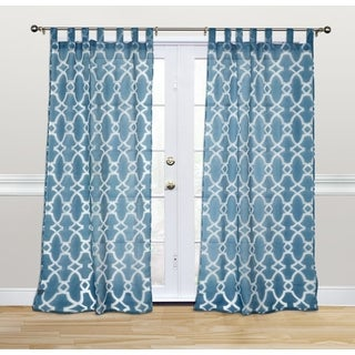 Kosas Home Dorris 108-inch Denim Blue Tab-top Curtain Panel