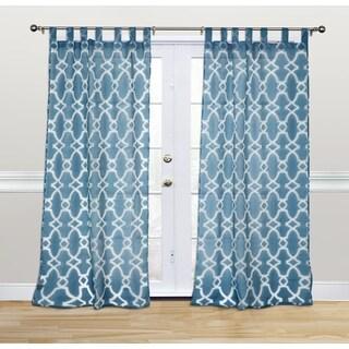 Kosas Home Dorris 108-inch Denim Blue Tab-top Curtain Panel