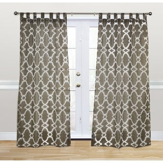 Kosas Home Doris 84-inch Chocolate Tab-top Curtain Panel