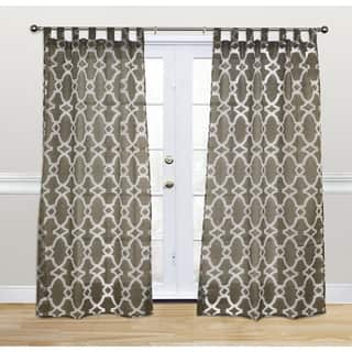 Kosas Home Dorris Chocolate 108 Inch Tab Top Curtain Panel