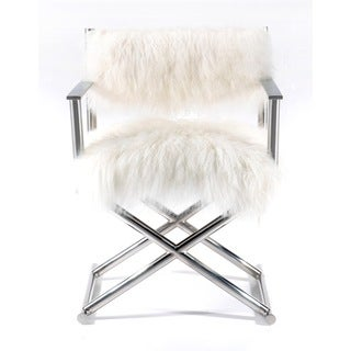 Mongolian Fur & Paris Love Director's Chair