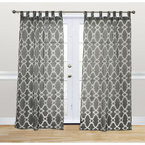 Kosas Home Dorris 108-inch Charcoal Tab-top Panel - 42 x 108