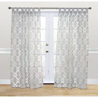 Kosas Home Dorris 108-inch Grey Tab-top Curtain Panel