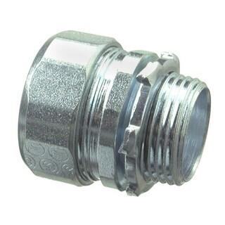 Halex 63512 1-1/4 in. Galvanized Steel Rigid Compression Connector