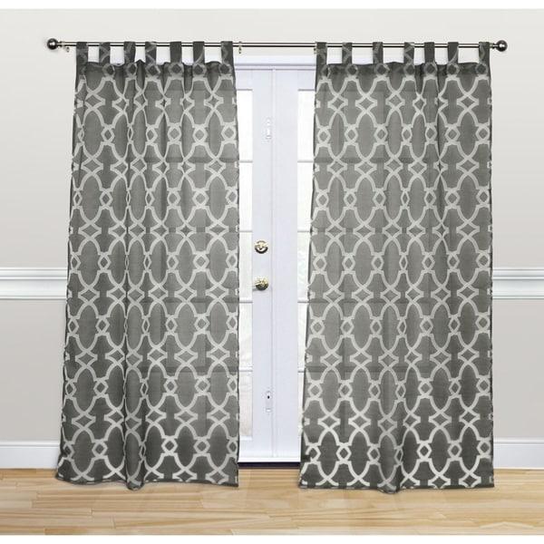 Kosas Home Doris 84-inch Charcoal Tab Top Panel