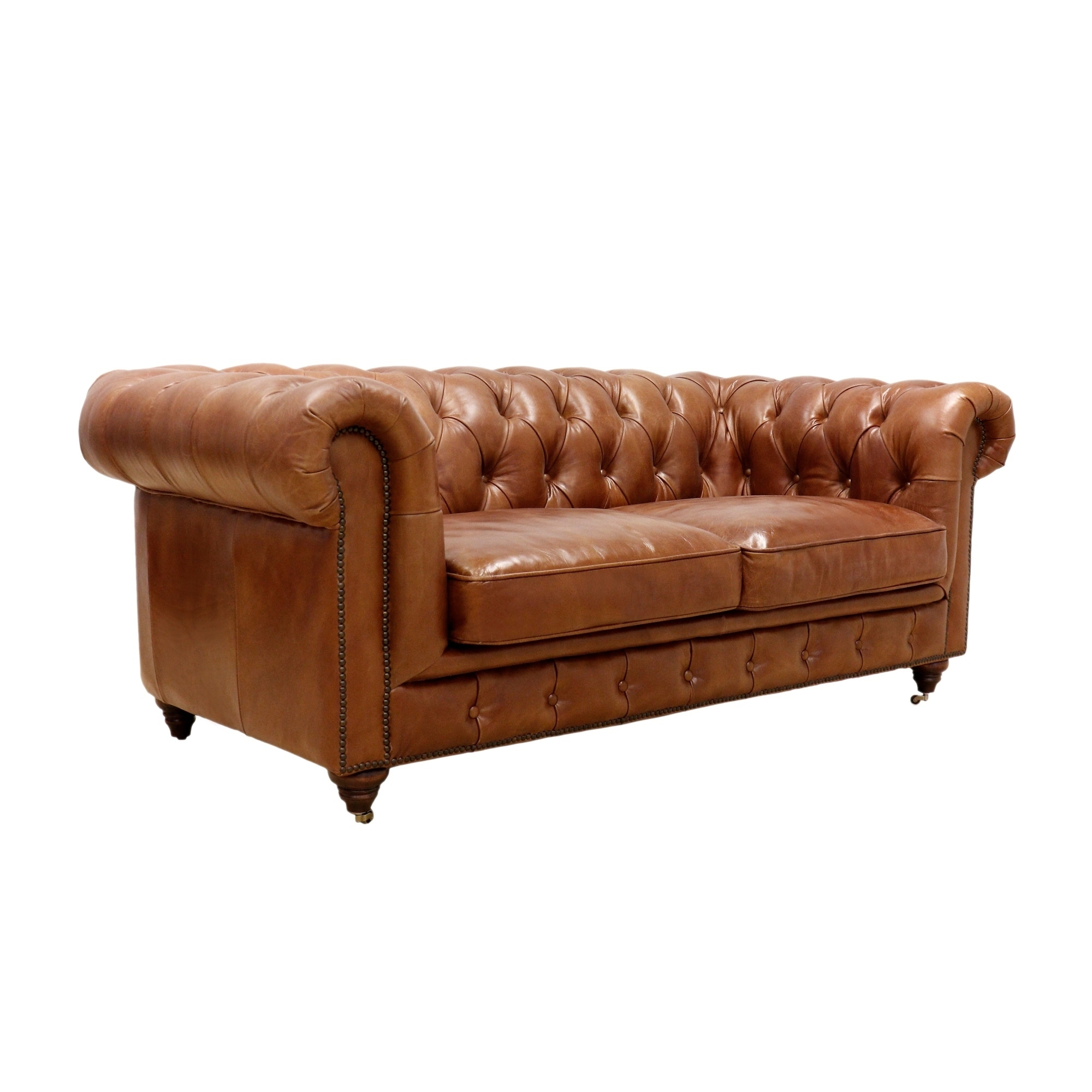 Pictures On Tanned Leather Loveseat Onthecornerstone