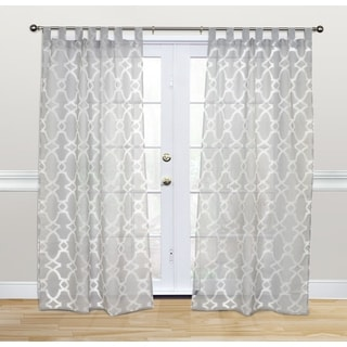 Kosas Home Dorris 84-inch Grey Tab-top Panel