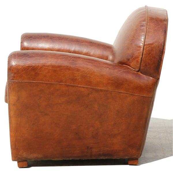 Outstanding Shop Pasargad Home Genuine Leather Paris Club Chair Free Spiritservingveterans Wood Chair Design Ideas Spiritservingveteransorg