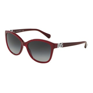 D&G Women's DG4258F 29668G Bordeaux Plastic Square Sunglasses