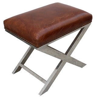 Pasargad Paris Club Bench Genuine Top Grain Leather