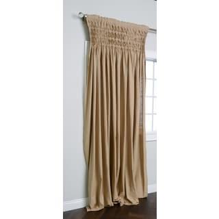 Kosas Home Samuel Khaki Cotton 108-inch Smocked Panel