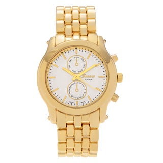 Geneva Platinum Women's Polished Panther Link Watch