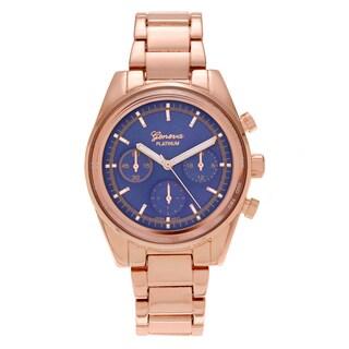 Geneva Platinum Women's Tachymeter Metal Link Watch