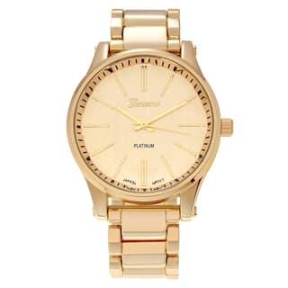 Geneva Platinum Women's Polished Round Face Link Watch|https://ak1.ostkcdn.com/images/products/11820531/P18726402.jpg?impolicy=medium