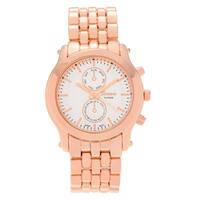 Geneva Platinum Women's Polished Panther Link Watch - Pink