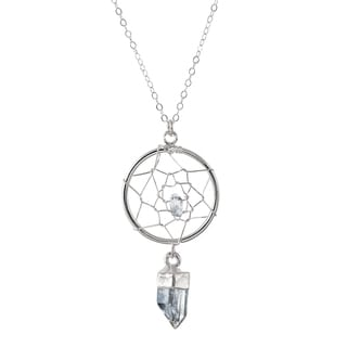 Sterling Silver Natural Crystal Quartz Petite Dream Catcher