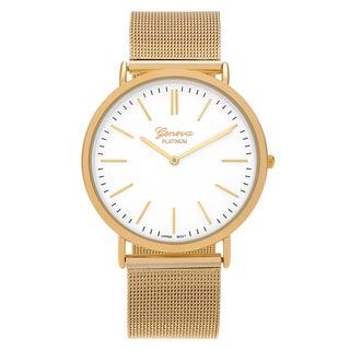 Geneva Platinum Women's Round Face Mesh Strap Watch