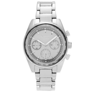 Geneva Platinum Women's Tachymeter Metal Link Watch