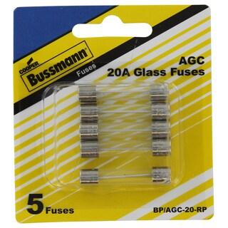 Bussman BP/AGC-20 RP 20 Amp Fuses 5-count