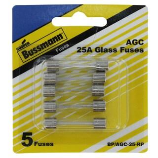 Bussman BP/AGC-25 RP 20 Amp Fuses 5-count