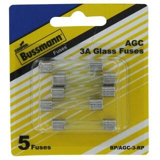 Bussman BP/AGC-3 RP 3 Amp Fuses 5-count
