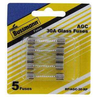 Bussman BP/AGC-30 RP 30 Amp Fuses 5-count