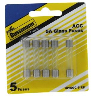 Bussman BP/AGC-5 RP 5 Amp Fuses 5-count
