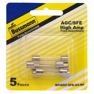 Bussman BP/AGC-A5-RP Glass Tube Fuse Assortment 5-count