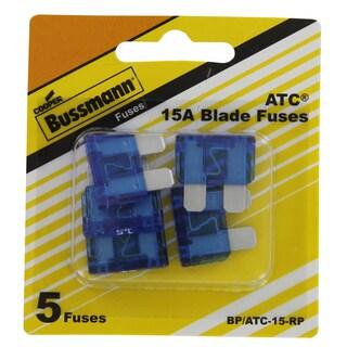 Bussman BP/ATC-15 RP 15 Amp Blade Fuses 5-count