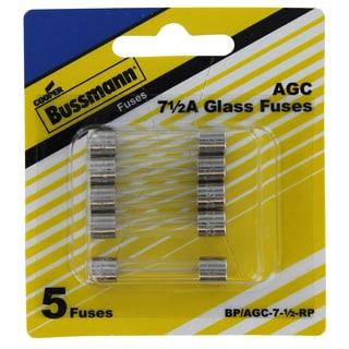 Bussman BP/AGC-7-1/2 RP 7-1/2 Amp Fuses 5-count