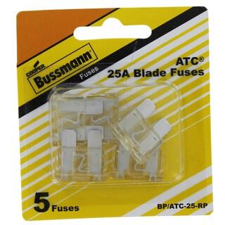 Bussman BP/ATC-25 RP 25 Amp Fuses 5-count