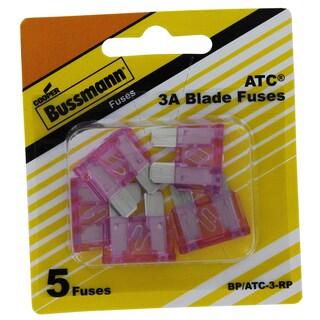 Bussman BP/ATC-3 RP 3 Amp Fuses 5-count