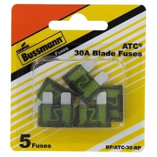 Bussman BP/ATC-30 RP 30 Amp Fuses 5-count