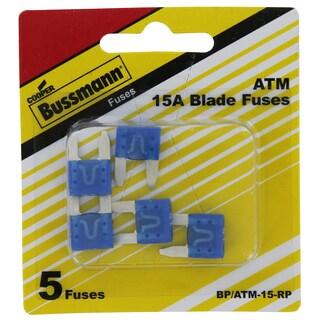Bussman BP/ATM-15 RP 15 Amp Mini Fuses 5-count