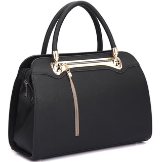 Dasein Fashion Goldtone Satchel Handbag