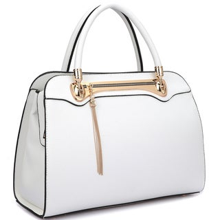 Dasein Fashion Goldtone Satchel Handbag